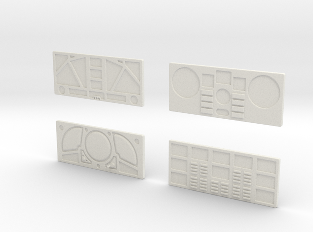 CP11 Flat Control Panels Design (28mm) 3d printed