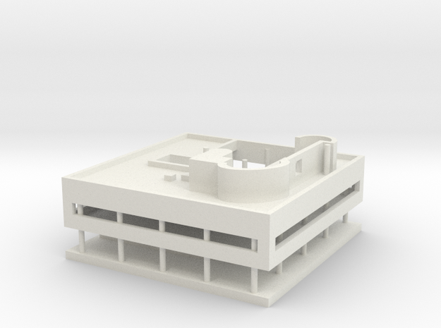 Villa Savoye in White Natural Versatile Plastic