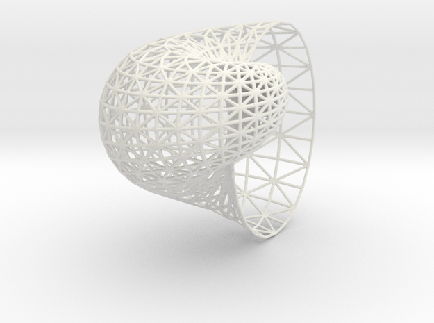 Shell mesh in White Natural Versatile Plastic