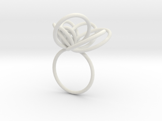 Flora Ring A (Size 7) 3d printed