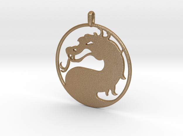 Mortal Kombat Logo - Necklace 3d printed