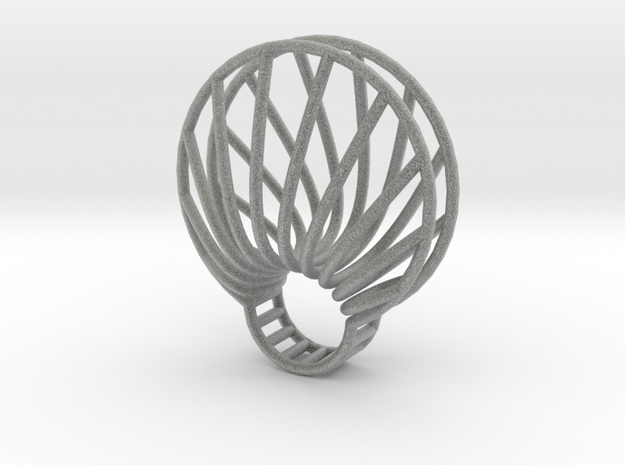 clamshell ring 3d printed