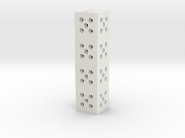 Building Block 1x4 in White Natural Versatile Plastic