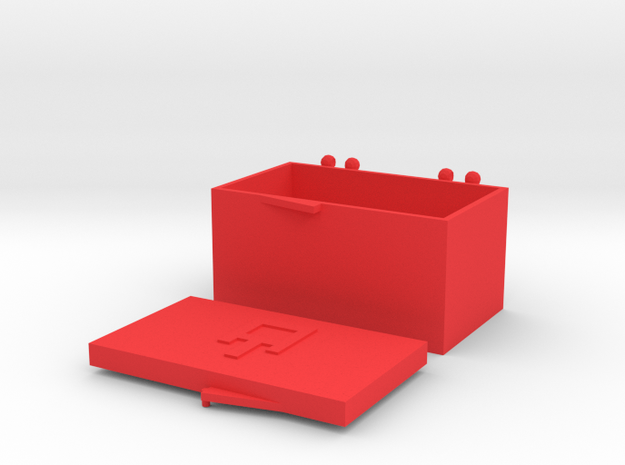 AT - HS1 Cartridge Headshell Case in Red Strong & Flexible Polished