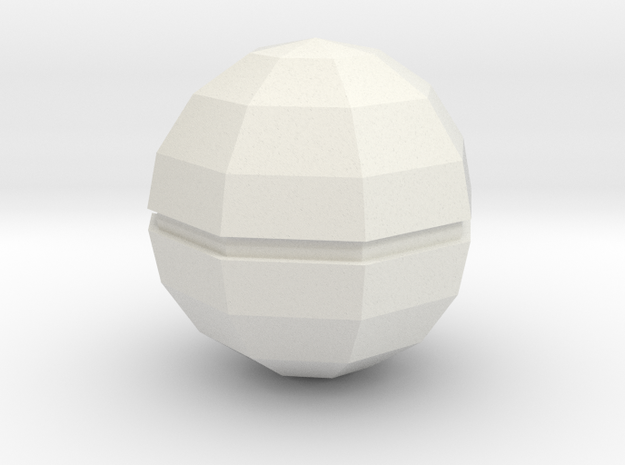 Pokeball in White Strong & Flexible
