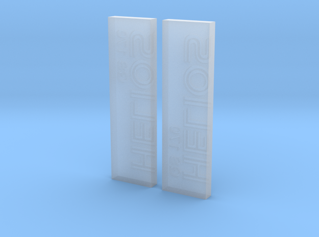 Helios Namplates - GS 170 in Smooth Fine Detail Plastic