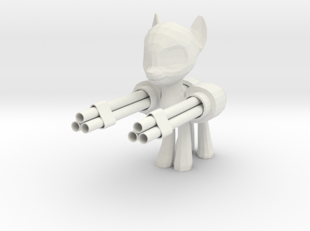 Pony Gatling Gun 3d printed
