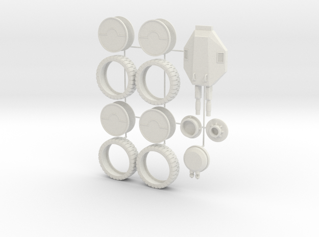 Science Fiction APC Detail Parts in White Strong & Flexible