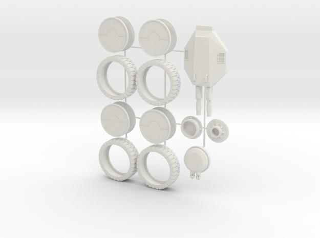 Science Fiction APC Detail Parts in White Natural Versatile Plastic