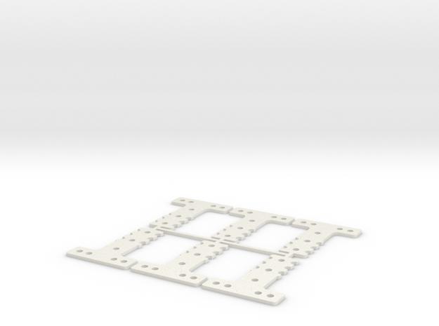 LM-MM 40 THK #5 SET in White Natural Versatile Plastic