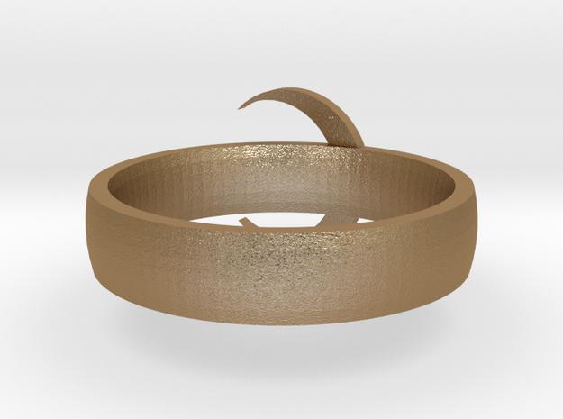 Moon Ring STL 3d printed