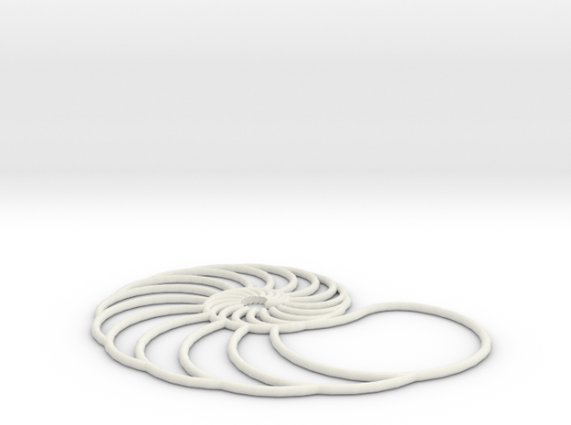 nautilus pendant arched 3d printed