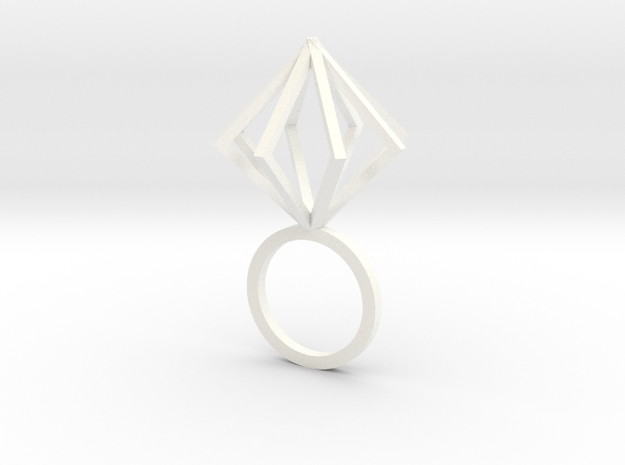 Ring With Box size 9 in White Processed Versatile Plastic