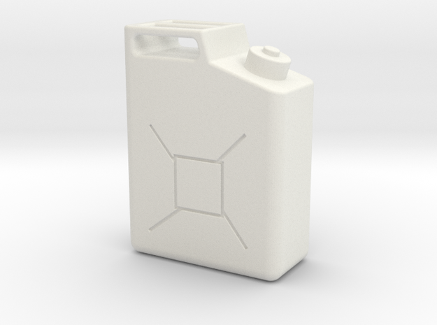 Gas Can in White Natural Versatile Plastic