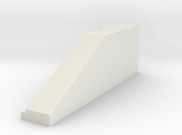 02.021.001_Betonschutzwand New Jersey Profil Überg in White Natural Versatile Plastic