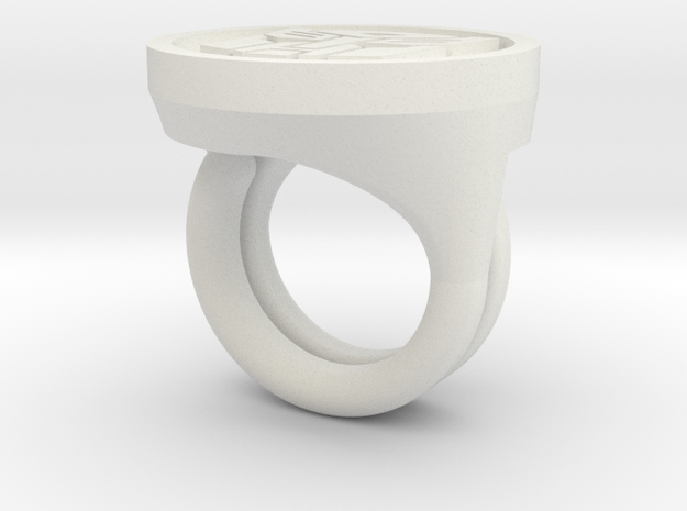 Autobot Rings in White Natural Versatile Plastic