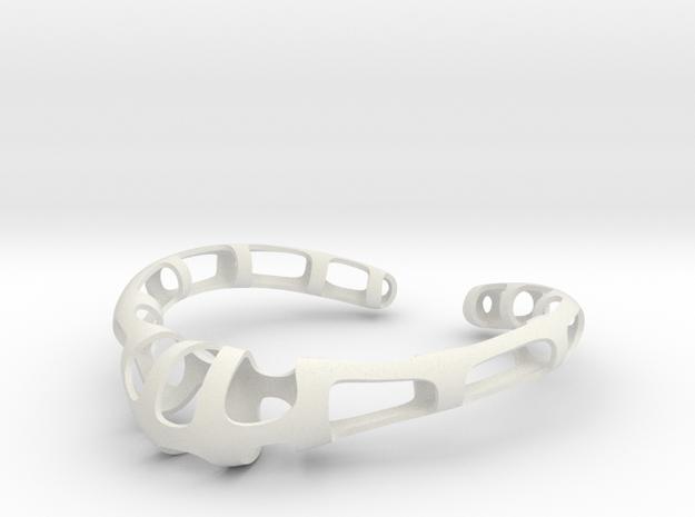 Necklace - Brita in White Natural Versatile Plastic