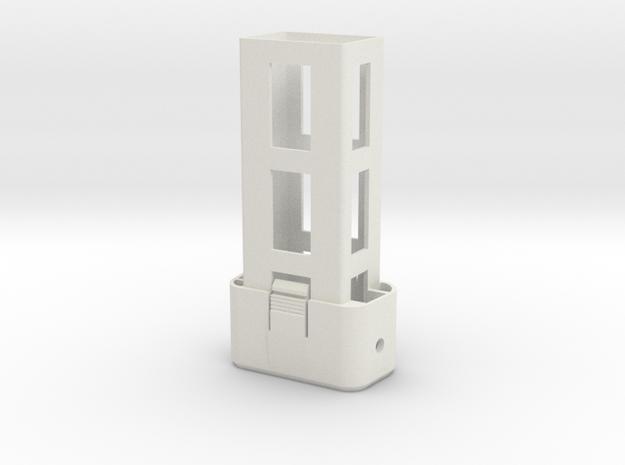 Couvercle P2 VER4 + Chariot Lipo in White Natural Versatile Plastic