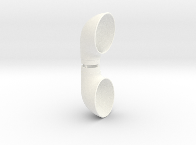 Cowl Vent, .750inch Tube Size in White Strong & Flexible Polished