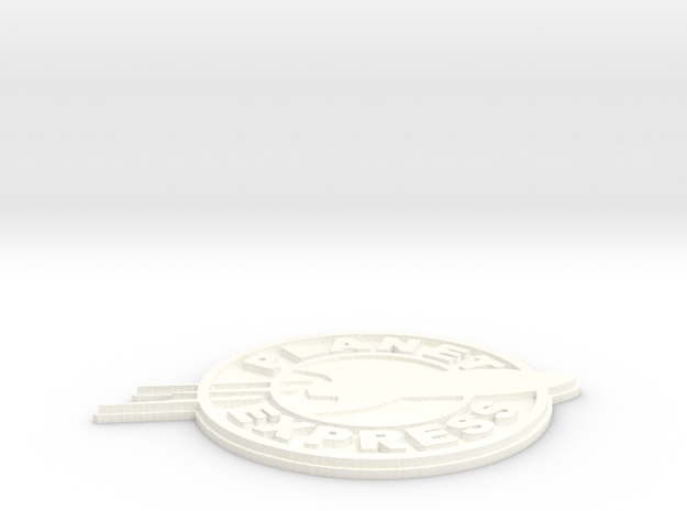 planet express logo in White Strong & Flexible Polished