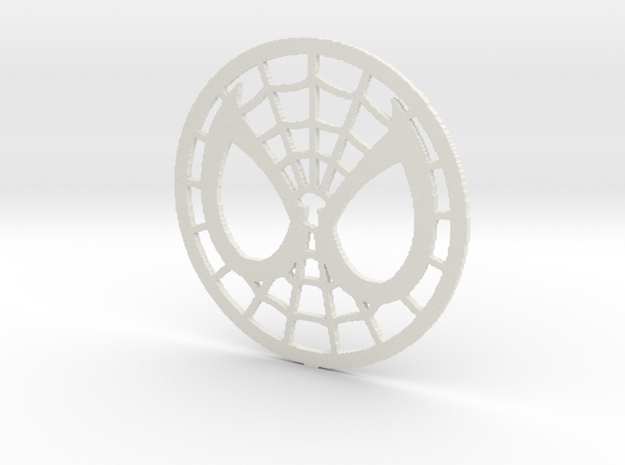 Spidey Face Logo in White Natural Versatile Plastic