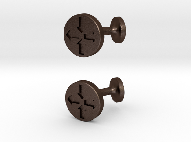 Router Puck Network Cuff Links 3d printed