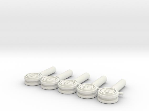 Jedi Killkey Set 2.1mm in White Natural Versatile Plastic