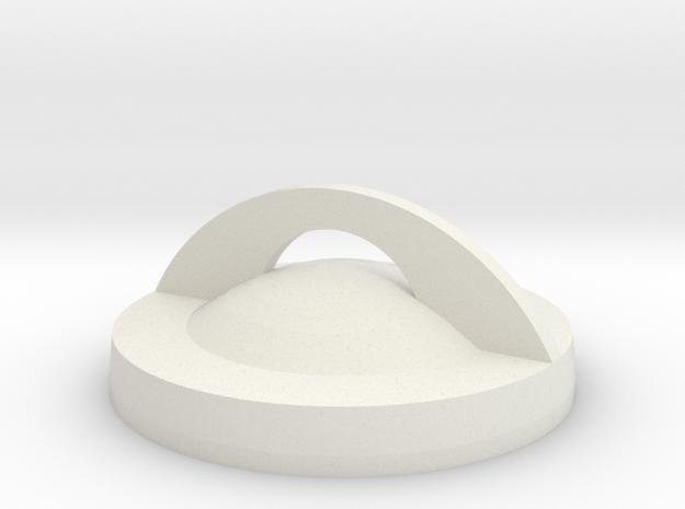 Hero2LensCover2 in White Natural Versatile Plastic