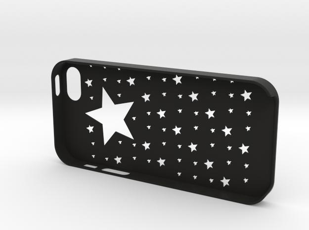 Iphone5,5S Star case,cover in Black Natural Versatile Plastic