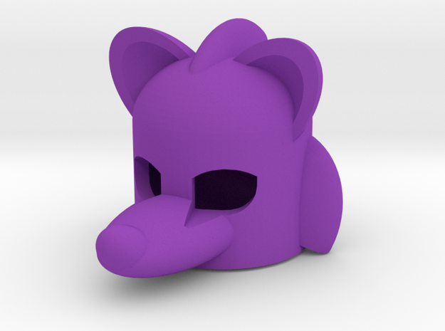 Rodentlike Helmet for Building Toy Figurine 3d printed