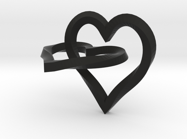 Interlocked Mobius Hearts 3d printed