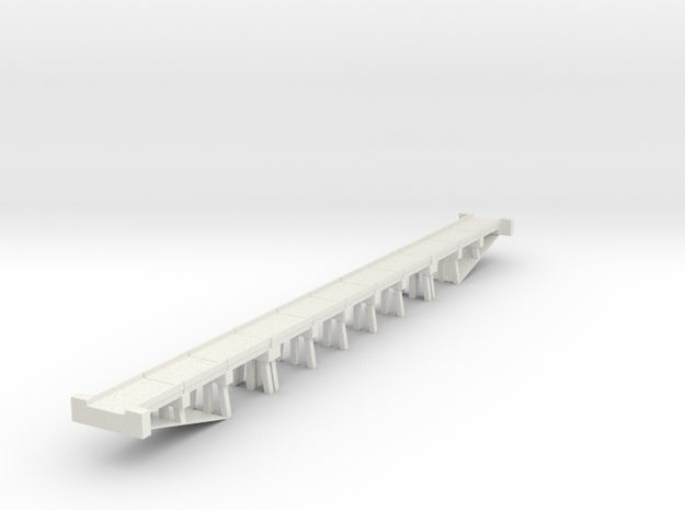 Bridge N scale generic medium in White Strong & Flexible