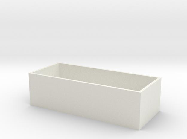 Nes Controller Box Bottom in White Strong & Flexible