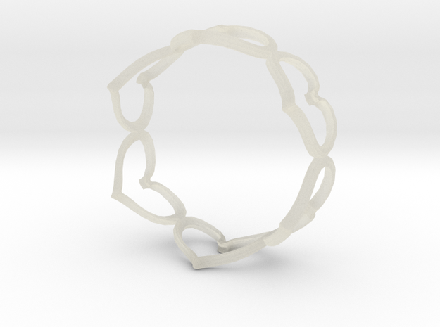 Hearts Bracelet 4inch 3d printed