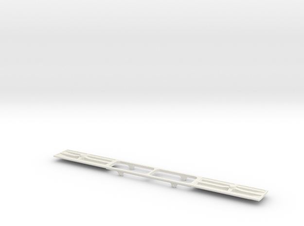 DDA40X Replacment Chassis For Dummy Loco N Scale in White Natural Versatile Plastic