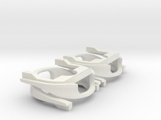 4 ICM Baanschuivers in White Natural Versatile Plastic