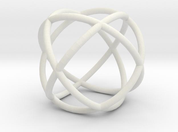 torus sphere in White Natural Versatile Plastic
