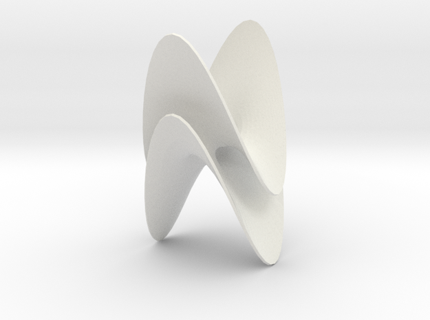 Torus with two ends of type (2,2,3) 3d printed