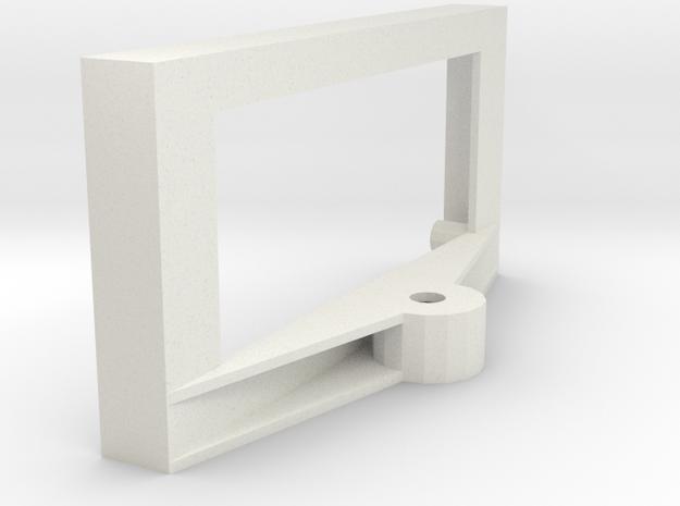 Boe-Bot Ping Servo Mount in White Natural Versatile Plastic