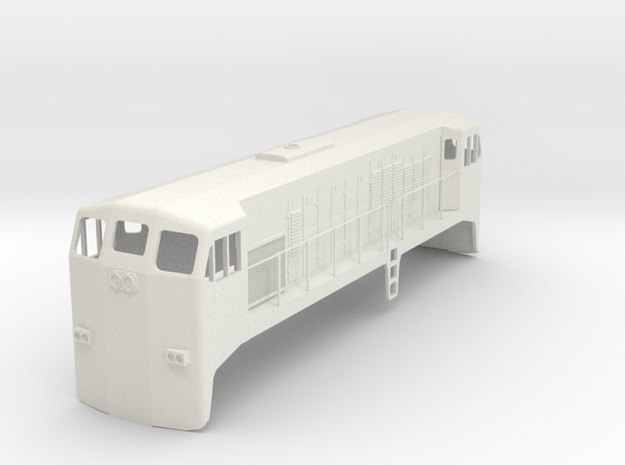EMD JL8 1:48 Scale in White Natural Versatile Plastic