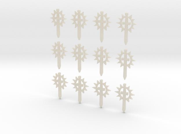12 28mm Sun Sword Symbols 3d printed