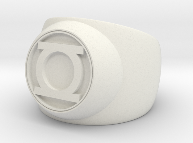 Green Lantern Ring- Size 12.5 in White Strong & Flexible