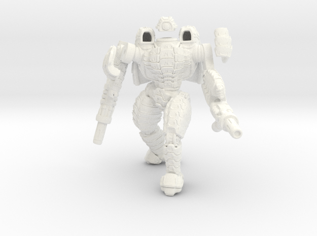 Mech suit with twin weapons. (5)