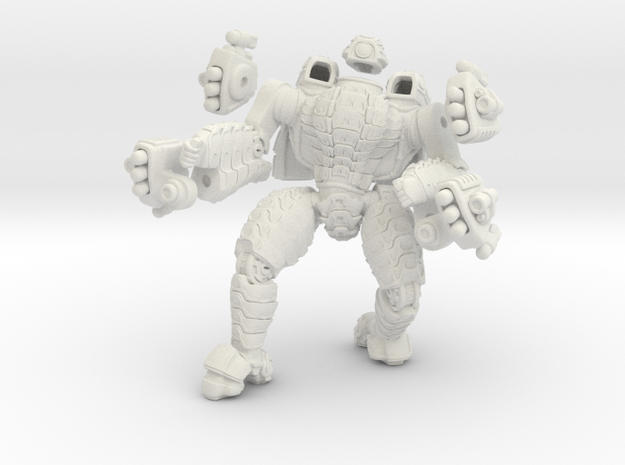 Mech suit with twin missile pods.(12) in White Strong & Flexible