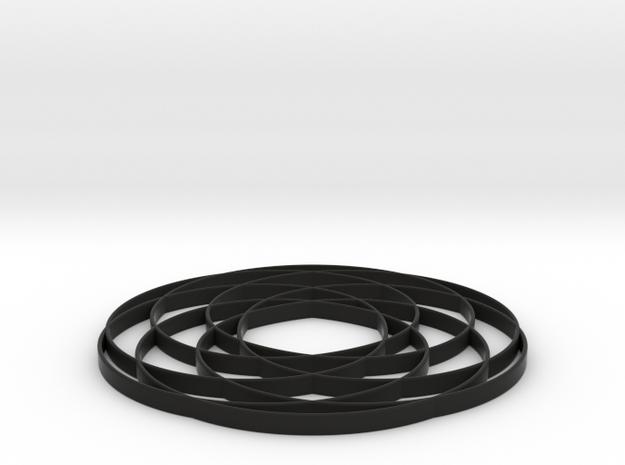 torus knot  fantasy 7-6 2D 3d printed