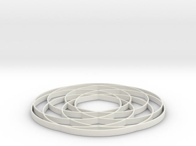 torus knot  fantasy 7-6 2D in White Natural Versatile Plastic