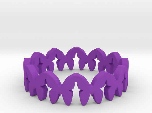 Delicate Butterflies Ring Butterfly Jewelry in Purple Processed Versatile Plastic