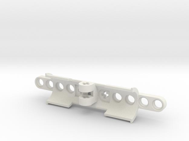 Cylinder Bracket in White Natural Versatile Plastic