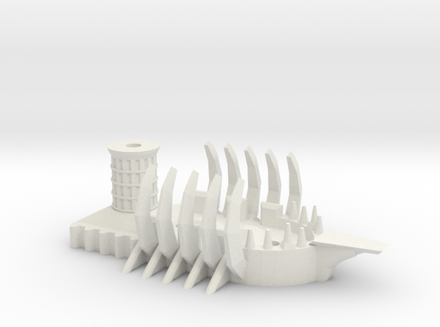 Ogre Tyrant Ship in White Natural Versatile Plastic