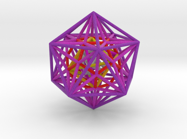 Nested Platonics Purple 100mm 3d printed